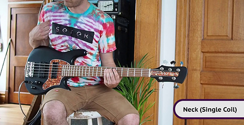 Serek Basses - 5 String Midwestern 2 Short Scale Bass Demo - Curtis Novak Pickups