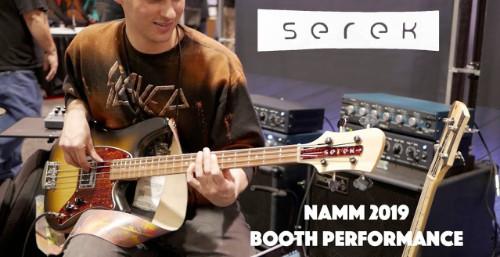 Serek Basses - NAMM 2019 Performance with Brad Miller, JD Beck, Chris Fishman, Nick Hetko